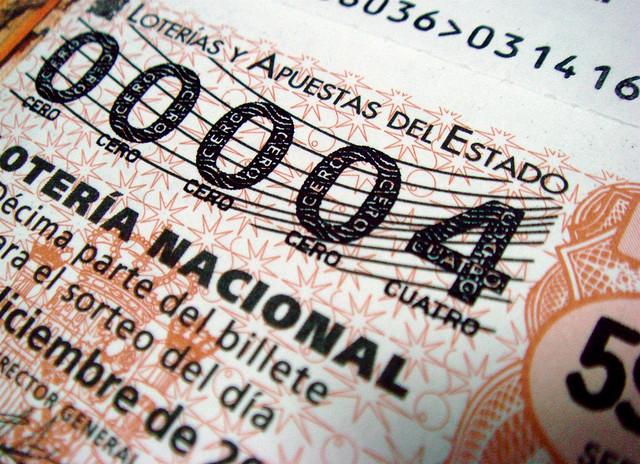 Ticket d'El Gordo, la loterie annuelle en Espagne.