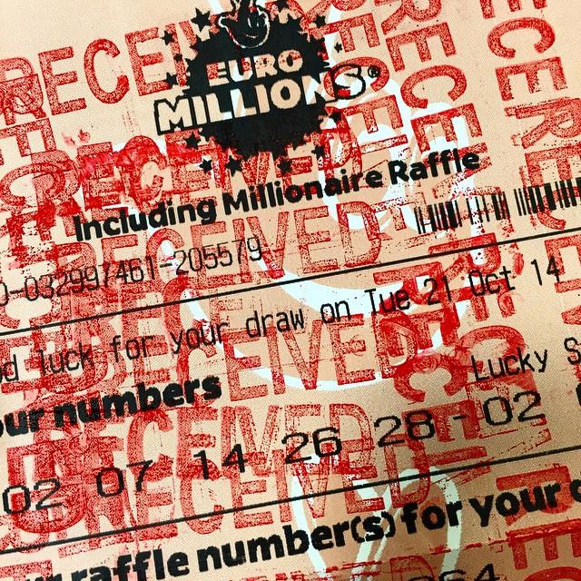 Billet de l'euromillion validé