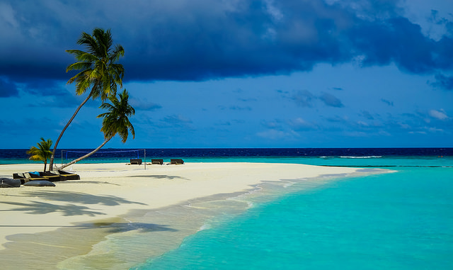 Photo d'une plage des Maldives