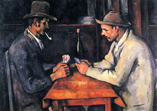 Tableau Les joueurs de cartes, de Paul Cézanne