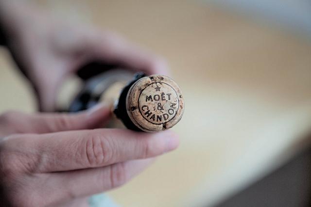 Bouteille de Champagne Moët & Chandon.