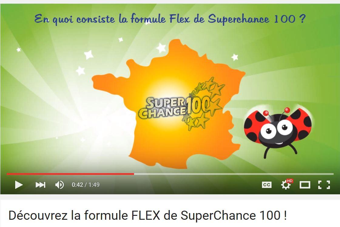 Vidéo formule Flex de SuperChance100