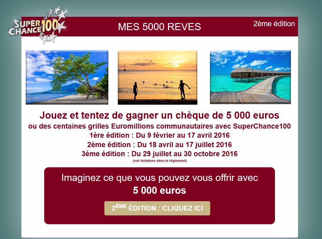 Tirage au sort mes5000reves.fr