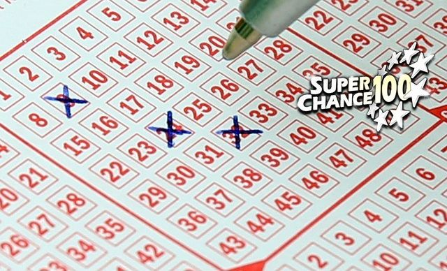 Grille de loterie en gros plan.