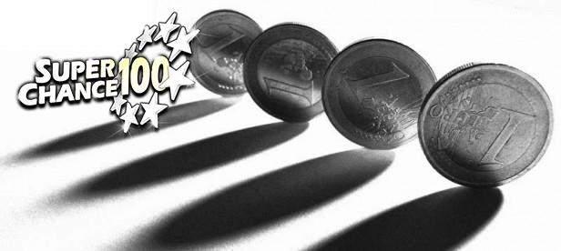 Photographie en noir et blanc de pièces de monnaie de un euro.