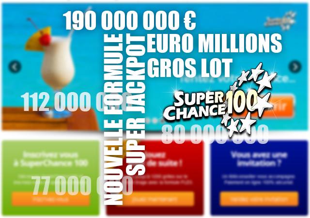 Infographie sur les nouveaux supers jackpots de l'Euro Millions.