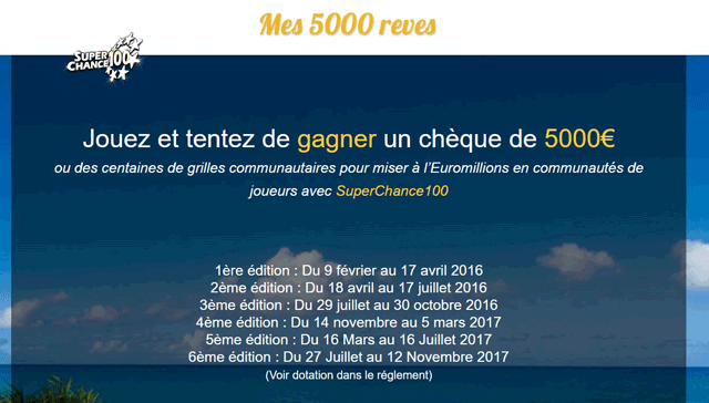 Jeu concours Mes 5000 rêves, par SuperChance100.