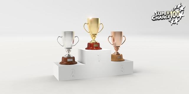 podium de gagnants