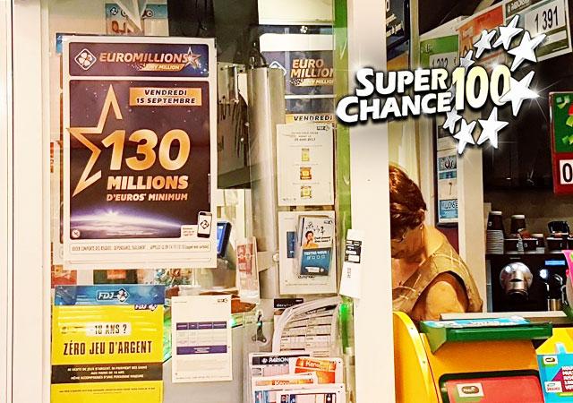Photographie d'un point de vente de l'Euro Millions.