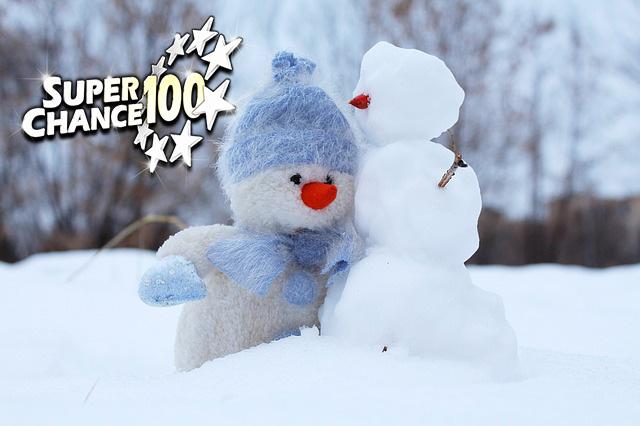 Deux bonhommes de neiges pour annoncer les deux grands grands gagnants de l'Euro Millions en février.