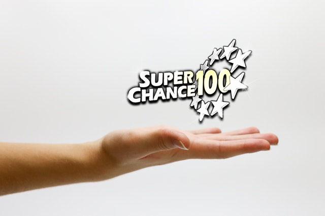 Main de la chance pour jouer avec SuperChance100.
