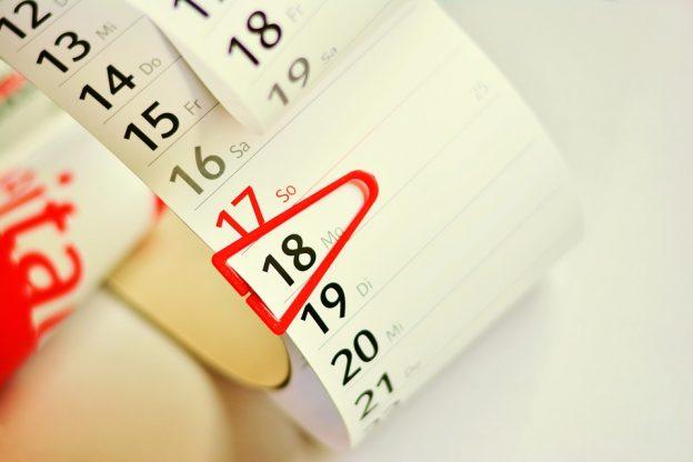 Le calendrier de l'Euromillion.