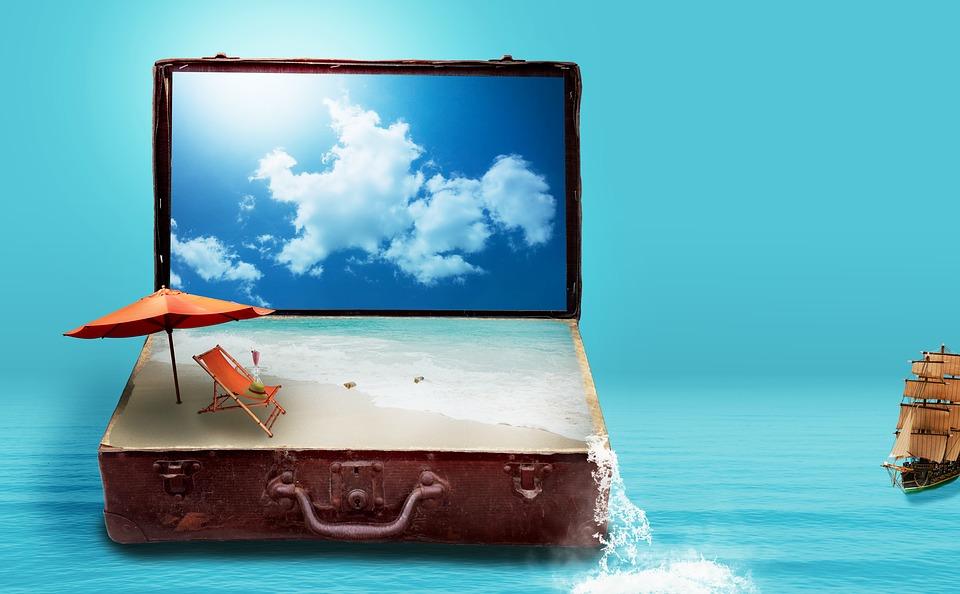Je rêve déjà de mes vacances.