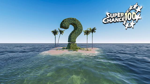 Une île avec un arbre en forme de point d'interrogation.