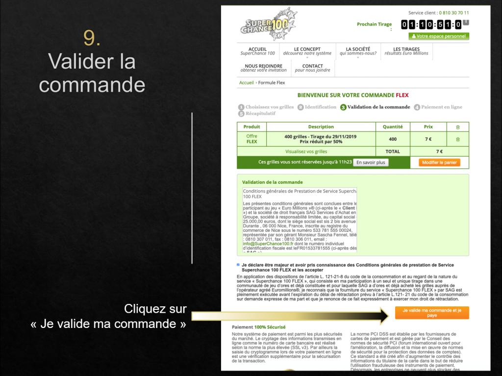 Obtenir ses grilles EuroMillions gratuites avec un code promo SuperChance100.